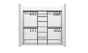$999 for a Professionally Designed, Built, and Installed Closet System for an 8 Foot Reach-in Closet