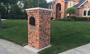 $1,899.00 for Brick Mailbox Pillar - Includes Mailbox