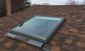 $2,700 for a New Velux Solar Replacement Skylight