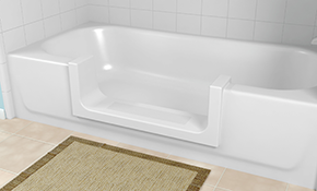 $1,165 for Step in Bathtub Conversion