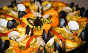 $225 for Authentic Spanish Paella Chef Dinner (Feeds 12-14 People)