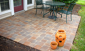 $1,725 for a Brick Paver Patio or Walkway Delivered and Installation