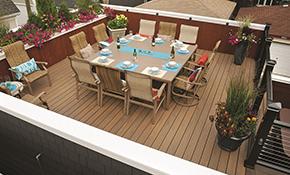 New 10' x 10' TimberTech deck