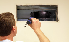 $179 Air Duct and Dryer Vent Cleaning, 40% Savings!