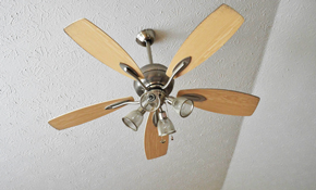 $225 Ceiling Fan Installation - Labor Only, Reserve Now for $33.75