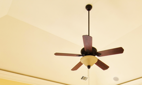 $99 Installation of a Ceiling Fan or 2 Light Fixtures