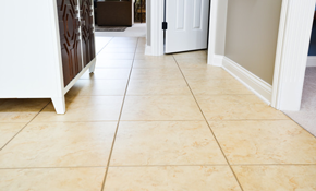 $30 for up to 200 Square Feet of Flooring Tile and Grout Cleaning