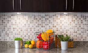$675 for a New Ceramic, Porcelain, or Glass Tile Full Kitchen Backsplash Installation
