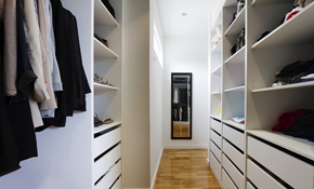 $799 Reach-in Closet Re-Design and Professional Installation