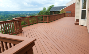 $2,499 for Trex or Redwood Deck with Plans, Materials, and Installation
