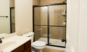 "$810 for New Semi-Frameless Bypass Shower Door Including Hardware and Labor (60"" x 78"")"
