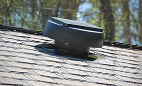 $787 for Solar-Powered Rooftop Vent - Installation and Materials Included
