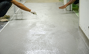 $1,300 Garage Floor Finishing with 1 Color and Decorative Flakes