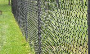 $659 for a Black Vinyl Chain Link Fence Installation
