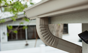 $899  for 150 Linear Feet of High-Capacity, 5-Inch Gutters or Downspouts