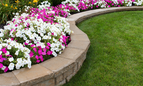 $999 Landscaping Package Including 14 Hours of Landscaping Services and $450 Material Credit