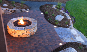 $1,350 for Propane Gas Fire Pit Installation