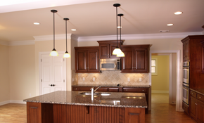 $899 for 4 New LED Recessed Lights with Switch Installed