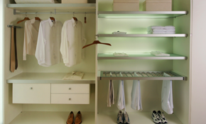$822 for a Complete Walk-In Closet Re-Design and Organization