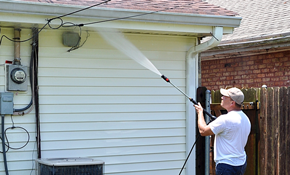 $299 for House Pressure-Washing, Plus Window Cleaning