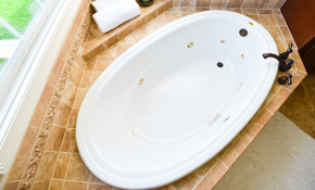 $399 Bathtub Refinishing with Non-Slip Surface - Includes 5 Year Warranty
