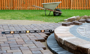 $1,199 for a Round Paver Stone Patio and/or Walkway Delivery and Installation