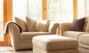 $89 for Upholstery Cleaning of a Sectional or Couch and Love Seat