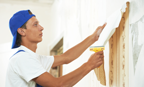 $349 for 8 Hours of Wallpaper Removal or Trim, Door, Window, or Baseboard Painting