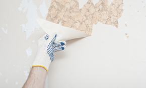 $1,195 for 24 Hours of Wallpaper Removal, Drywall Repair and Interior Painting
