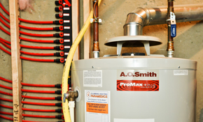 $2,128 for an AO Smith 50 Gallon Water Heater Installation