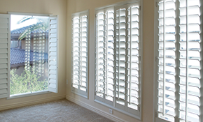 $899 for 10 Faux Wood Blinds, Measuring and Installation