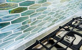 $1,125 for a New Ceramic Tile Backsplash - Labor Included