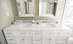 $899 for Installation of Vanity, Countertop, and Mirror (Up to 4 Feet)