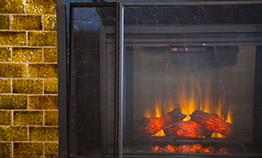 $129 for Gas Log Fireplace Cleaning