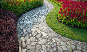 $6,599 for Paver Stone Patio or Walkway Delivered and Installed