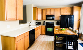 $2,899 Installation of 10 Oak Kitchen Cabinets