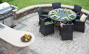 $2,280 for Paver Stone Patio or Walkway Delivered and Installation