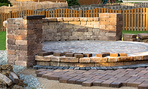 $1,525 for Delivery and Installation of Fire Pit