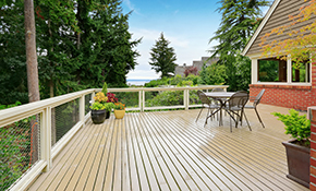 $300 for Deck or Fence Waterproof Staining/Sealing - Stain Included