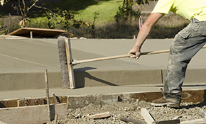 $2,250 for Concrete Patio, Walkway, or Driveway Installation, Reserve Now for $112.50