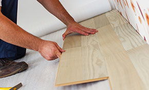 $540 for up to 250 Square Feet of Laminate Flooring Installed- Labor Only
