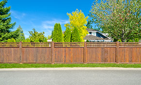 $4,495 Pre-Stained Cedar Fence Installation