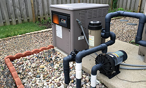 $112 for a Pool Gas Heater Service Call