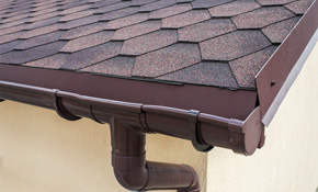 $293  for 50 Feet of High-Capacity, 6-Inch Gutters or Downspouts