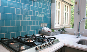 $675 Custom Kitchen Backsplash in Tile, Stone or Glass
