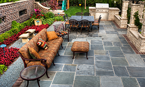 $1,799 Flagstone Patio or Walkway Delivered and Installed