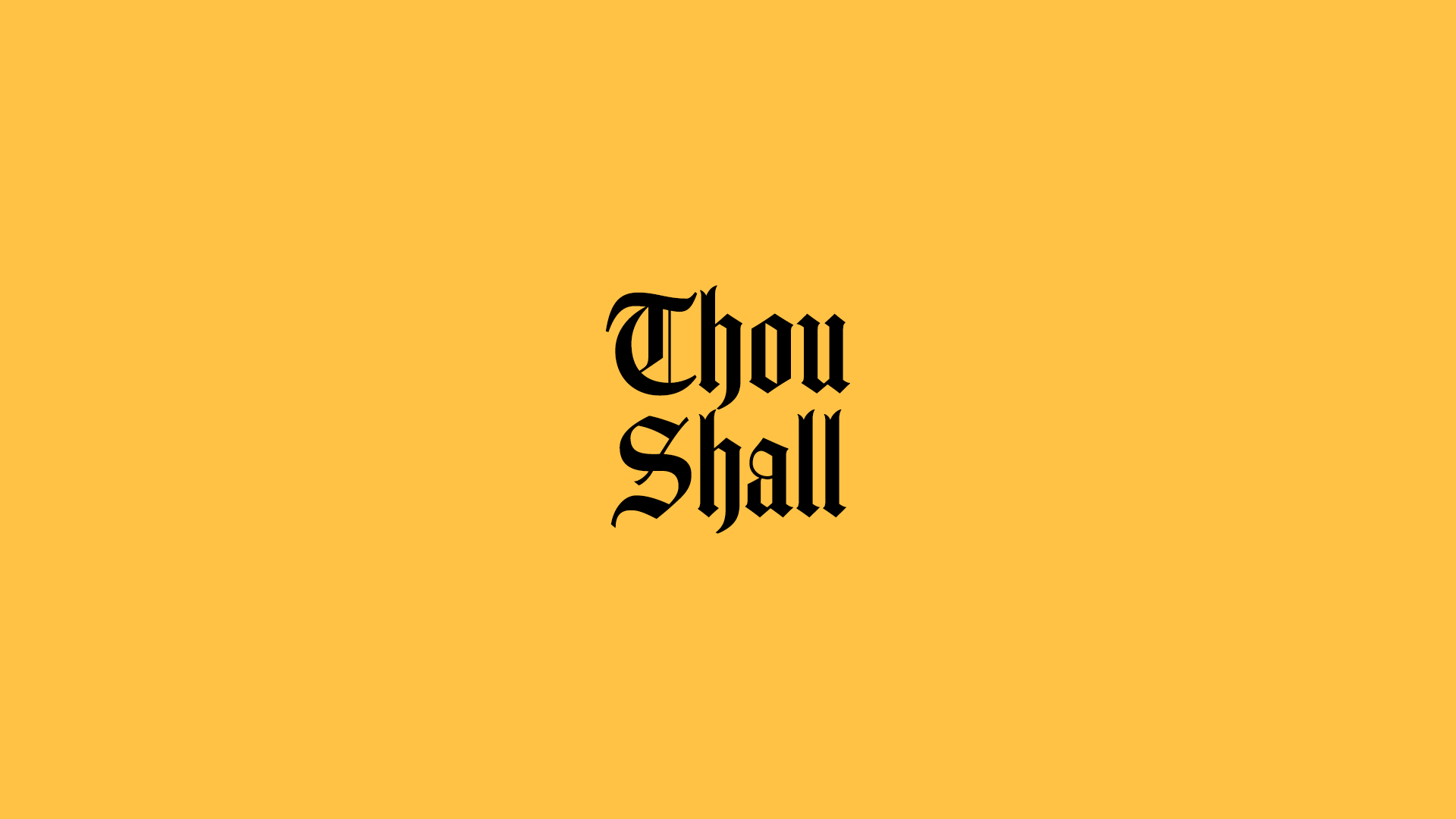 Thou shall worship center