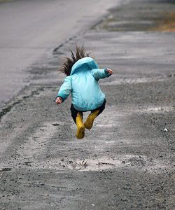 Play puddle hopscotch