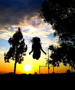 Catch a playground sunset
