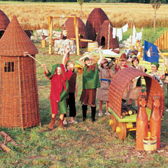 medieval costumes and playhouses
